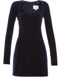 Galvan London ナイトフォール ベルベットミニドレス - ブルー