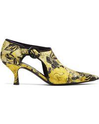 Erdem Marguerite Floral Jacquard Court Shoes - Multicolour