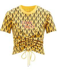 Paco Rabanne - Ciao Paco Geometric-print T-shirt - Lyst