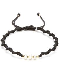Black Dakini | Sterling-silver And Cord Bracelet | Lyst