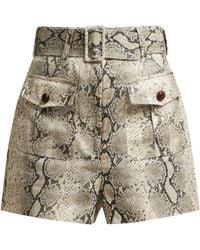 Zimmermann - Corsage Snake Print Linen Shorts - Lyst