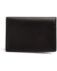 Smythson Panama Bi Fold Cardholder - Black