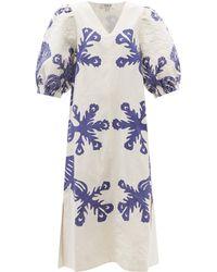 Sea Henrietta Quilted Cotton-blend Midi Dress - White