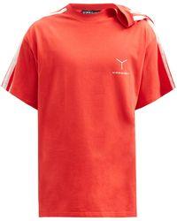 Y. Project クリップショルダー ロゴ コットンtシャツ - マルチカラー