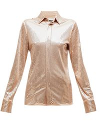 Bottega Veneta - Mirrored Crepe Shirt - Lyst