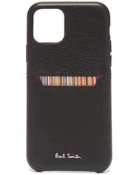 Paul Smith Coque rayée pour iPhone® 11 Pro - Noir