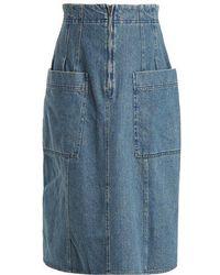 Apiece Apart - A-line Cotton-denim Skirt - Lyst