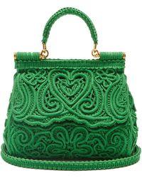 Dolce & Gabbana シシリー スモール コルドネットレースバッグ - グリーン