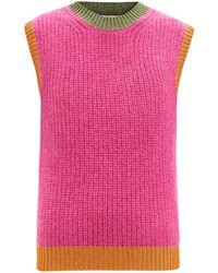 Valentino モヘアブレンド リブタンクトップ - ピンク