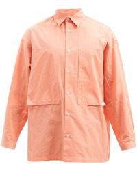 E. Tautz Lineman Patch-pocket Cotton-oxford Shirt - Orange
