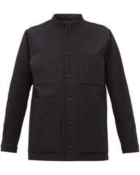 Toogood The Locksmith Patch-pocket Textured-cotton Shirt - Black