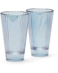 Luisa Beccaria Set Of Two Isis Water Glasses - Blue
