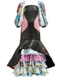 Marine Serre - Scuba Suit & Bedsheet Ruffled Gown - Lyst
