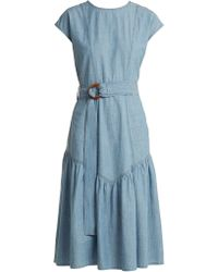 M.i.h Jeans - Aubrey Chambray Midi Dress - Lyst
