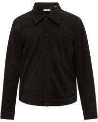 Our Legacy リインカーネーション スエードオーバーシャツ - ブラック