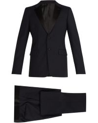 Prada - Two Button Wool Blend Tuxedo - Lyst