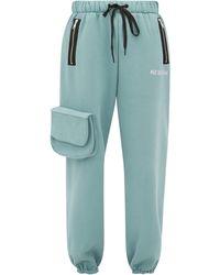 Natasha Zinko Pantalon de jogging en jersey de coton mélangé - Vert