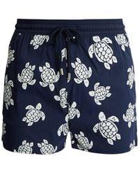 Vilebrequin - Moorea Glow-in-the-dark Turtles-print Swim Shorts - Lyst