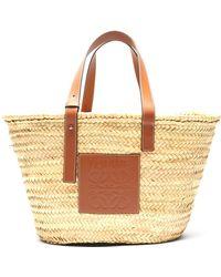 Loewe Medium Woven Basket Bag - Natural