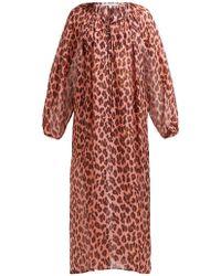 Stella McCartney - Ballet Leopard Printed Silk Kaftan - Lyst