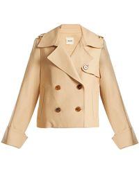 Khaite - Bianca Double-breasted Cotton Jacket - Lyst