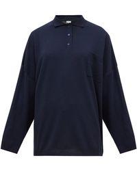 Loewe オーバーサイズ スプレッドカラー ウールセーター - ブルー