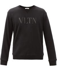 Valentino Garavani Vltnロゴ コットンブレンドスウェットシャツ - ブラック