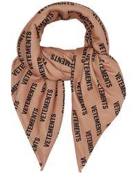 Vetements - Logo Print Fleece Scarf - Lyst