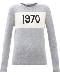 Bella Freud 1970-intarsia Cashmere Jumper - Grey
