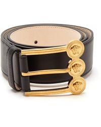 Versace - Medusa-buckle Leather Belt - Lyst