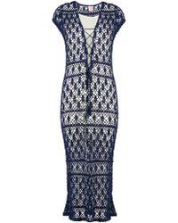 Mesh cotton maxi dress Anna Kosturova Inexpensive Dx33r