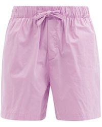 Tekla Organic-cotton Pyjama Shorts - Pink