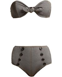 Lisa Marie Fernandez Poppy Strapless Bandeau Bikini - Black