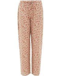Hanro Sleep & Lounge Printed Knit Long Trousers - Multicolour