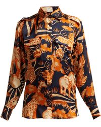 2f030fd469699 Ulla Johnson Femi One-shoulder Floral-print Cotton And Silk-blend ...