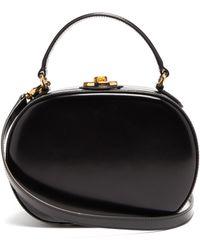 Mark Cross Gianna Oval Smooth Leather Bag - Black