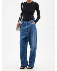 Balenciaga トロンプルイユ ワイドジーンズ - ブルー