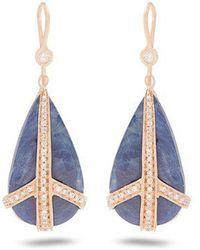 Jacquie Aiche - Diamond, Sapphire & Rose-gold Earrings - Lyst