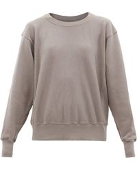 Les Tien クロップド コットンスウェットシャツ - グレー