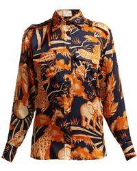 Chufy - Femi Safari Print Silk Shirt - Lyst
