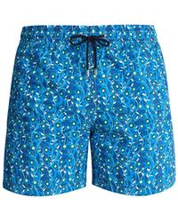 Le Sirenuse - Arts And Crafts Print Swim Shorts - Lyst
