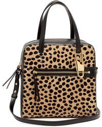 JOSEPH - Ryder 25 Leopard-print Pony-hair Bag - Lyst
