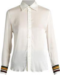 Wales Bonner | Caribe Crochet-trimmed Silk-blend Shirt | Lyst