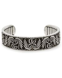 Gucci - Gg Marmont Flower Sterling Silver Bracelet - Lyst