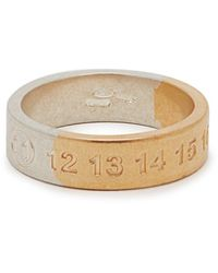 Maison Margiela Silver And Gold-tone Numbers Ring - Metallic