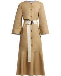 Tibi - Finn Cotton Twill Trench Dress - Lyst