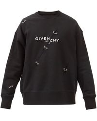 Givenchy - ロゴ ダメージ コットンスウェットシャツ - Lyst