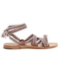 Arpia wraparound velvet sandals ÁLVARO GONZÁLEZ fKT7KBgikP