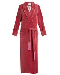 Racil - High Windsor Velvet Robe - Lyst