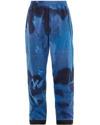 3 MONCLER GRENOBLE タイダイ テクニカル スキーパンツ - ブルー